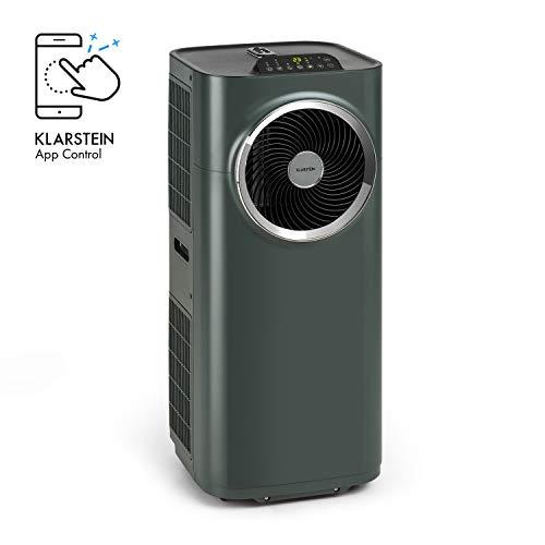 Klarstein Kraftwerk Smart - Klimaanlage, 3-in-1: Kühlung, Entfeuchtung, Ventilation, Energieeffizienzklasse A, WiFi: Steuerung per App, 10.000 BTU / 2,9 kW, Raumgröße: 29 bis 49 m², anthrazit