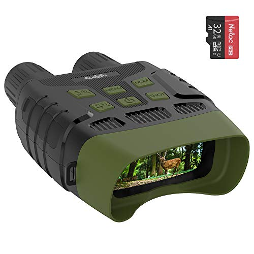 Coolife Night Vision Goggles Binoculars, 984ft Infrared Night Vision Range and HD Image 960P Video, 2.31