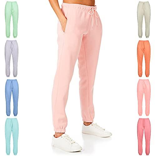 Light & Shade Pantalones Deportivos para Mujer, Ligeros y Sombra, de Tacto Suave, para Mujer, Mujer, Pantalones Deportivos, LSLPNT006_Rose_XS, Rosa (b), XS