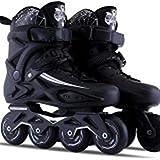 XQLSRJ Fitness Adulte Inline Skate Performance Inline Patients Skates Adultes Noir Noir Professionnel Inline Skates Confy Freestyle for Femmes et Adolescents