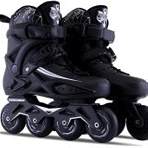 WENLI Ajustable Patines En LíNea Adulto Fitness Inline Skate Performance En línea Patines Adulto Exterior Interior Negro Profesional En línea Patines Cómodo Freestyle for Mujeres y Adolescentes