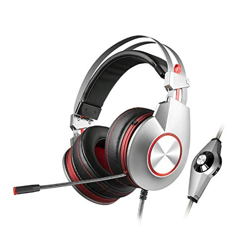 Zixin Casque K5 Gaming, avec Noise Cancelling Mic 7.1 Surround Bass, Gaming Casque for Ordinateur Portable