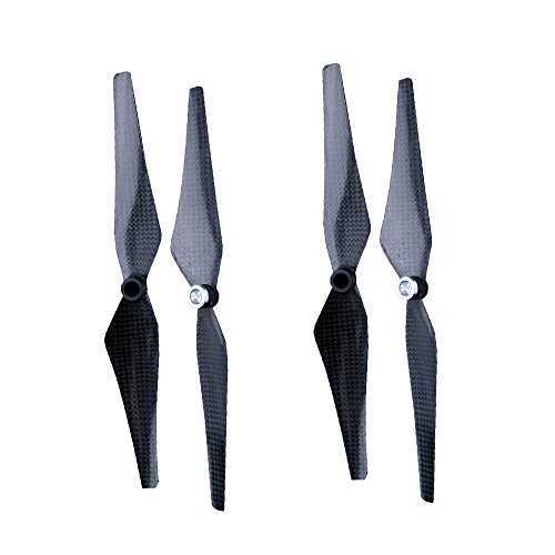 FLYPIG 2 Pairs 9450 CW+CCW Props Carbon Fiber Reinforced Self-tightening Propellers for DJI Phantom 1/2/3 Vision+plus Professional Pro Standard Advanced