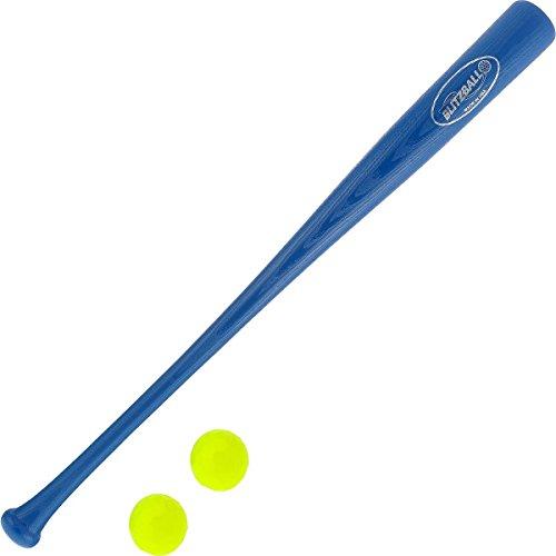 BLITZBALL Plastic Baseball and Bat and Ball Combo Set (2 Balls)