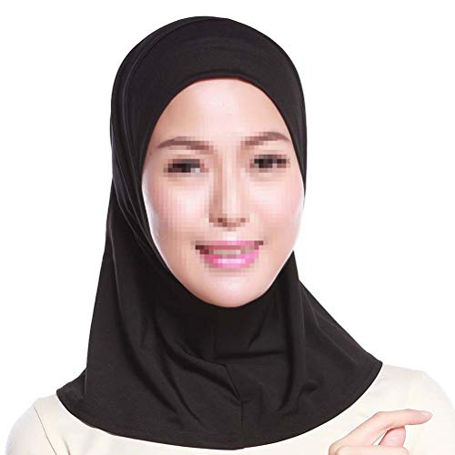 BESTOYARD Pañuelo islámico Ajustable para Mujer Hijab Suave y cómodo 43x40cm