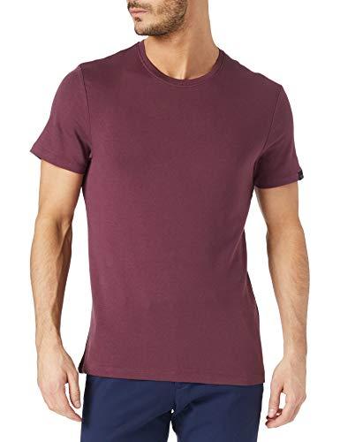 TOM TAILOR Herren Basic T-Shirt, 11333-Dusty Wildberry Red, L