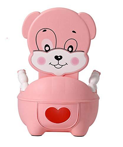 Glenmore Töpfchen für Kinder Baby WC Babytopf Potty Toilette mit Deckel Gepolstertes Maedchen Rosa