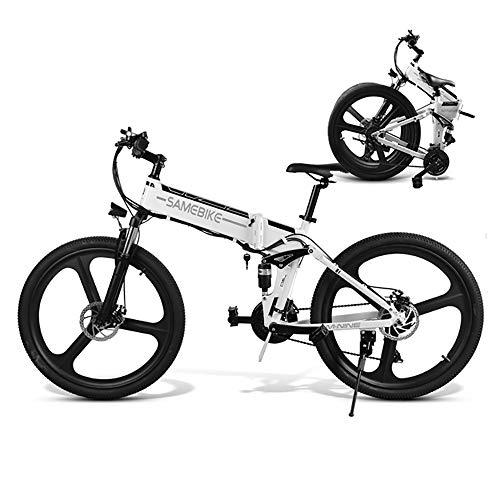 26 Zoll ElektroFaltrad Mountainbike Fahrrad Elektrofahrräder Faltrad mit 350W 48V Motor SHIMANO 7-Gang Lithiumbatterie Scheibenbremse LCD-Messgerät ebike für Männer Frauen Erwachsene [EU STOCK]