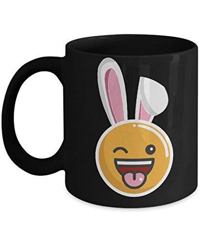 Cukudy paashaas mok Emoji kostuum pak oren bril Simley knipperen grappige koffie Cup