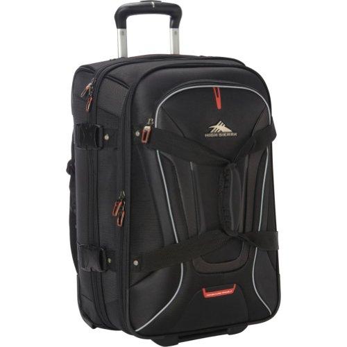 High Sierra AT7 Upright Wheeled Rolling Duffel Bag, 22-Inch, Black