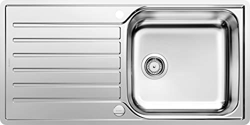 BLANCO LANTOS XL 6 S-IF - Edelstahlspüle für 60 cm breite Unterschränke für die Küche - Mit IF-Flachrand und Ablauffernbedienung - 519709