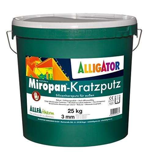 Alligator Miropan-Kratzputz Siliconharzputz außen 3mm weiß 25 kg