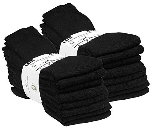 VCA 16 Paar Sportsocken, Tennissocken in 5 verschiedenen Farben, Damen und Herren Socken