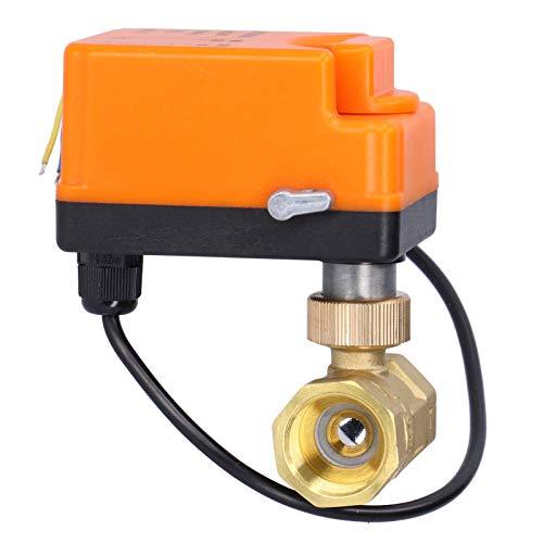 Válvula de bola motorizada, DN20 Válvula de bola eléctrica de 2 vías...