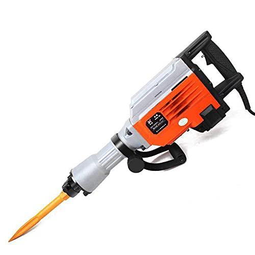 Breaker eléctrico 3500W con kit de herramientas - taladro de martillo de demolición para hormigón, 1550 rpm gato martillo taladros de demolición para eliminación de baldosas de roca de hormigón