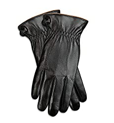Best Gloves For Driving In Winter - Mio Marino Luxury Napa Leather Gloves for Men