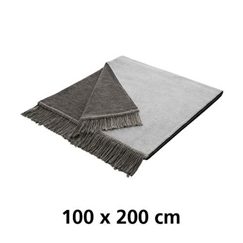 Schondecke Salt & Pepper Silber 100 x 200 cm - (718303)