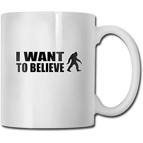 Bigfoot Ik geloof grappige koffiemok coole koffie theekop 11 oz perfect cadeau voor familie en vrienden
