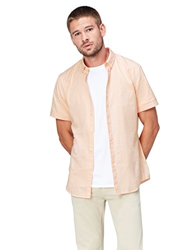 Amazon-Marke: find. Herren Freizeithemd, Orange (Apricot Gingham), XL, Label: XL