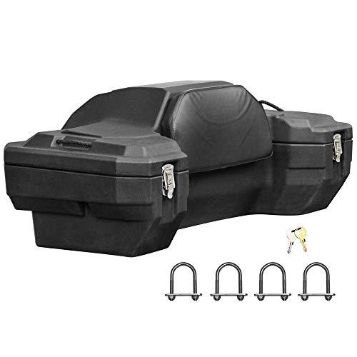 "Rage Powersports Black Widow ATV-CB-8020 15"" H Rear Rack Locking ATV Cargo Box"