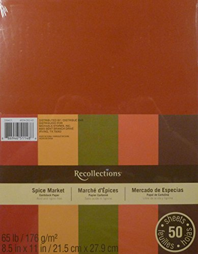 Fall colored cardstock