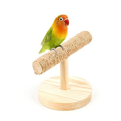Papegaai Houten Standaard,Huisdier Opknoping Schommel Speelgoed Handgemaakt Huisdier Stand Speelgoed voor Diverse…