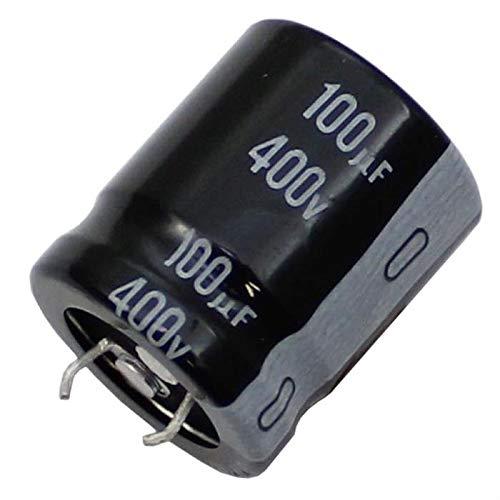 5x Snap-In Condensatore elettrolitico Radiale 100µF 400V 105°C LGN2G101MELZ25 d22x25mm 100uF
