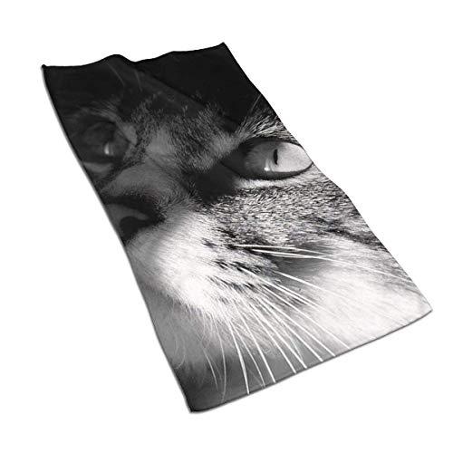Not Applicable Toalla de baño Grande, Toalla con Motivos de Gato Toalla Multiusos SPA 40 * 70cm