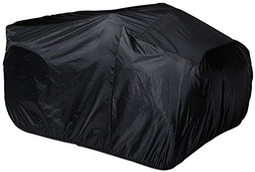 HOGAR AMO Quad ATV Abdeckung XL 210D Polyster Fahrzeug Abdeckplane UV-Schutz Wetterfest Schutz Cover Wasserdicht Garage 256 x 110 x 120cm Schwarz