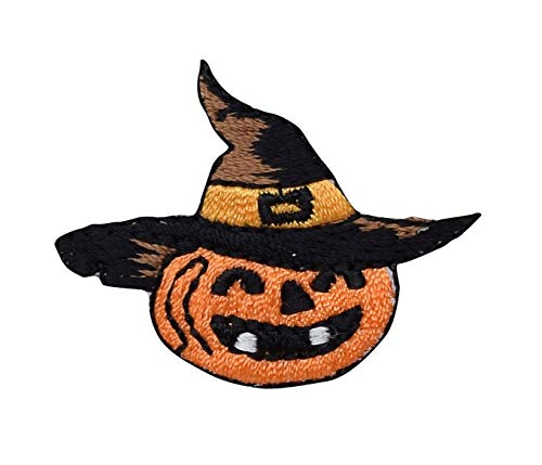 Jack-o-Lantern - Halloween - Pumpkin - Witch's Hat - Iron on Applique/Embroidered Patch