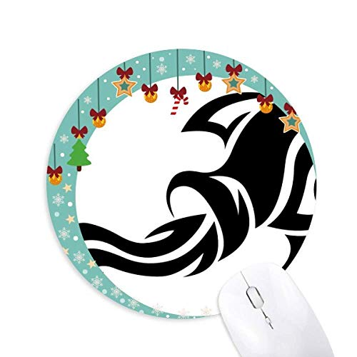 Sternbild Aquarius Zodiac sign Mouse Pad Jingling Bell Round Rubber Mat