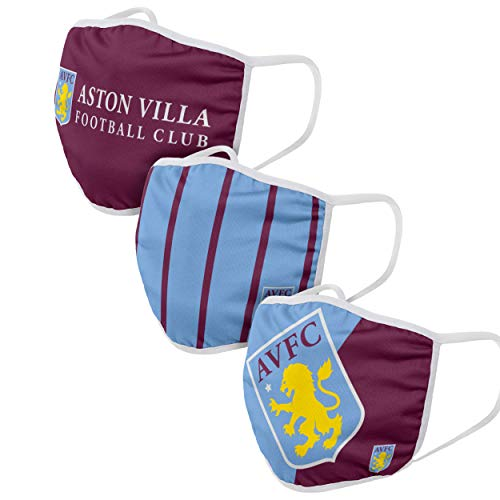 Forever Collectibles UK ASTON VILLA FC FACE COVERINGS WH
