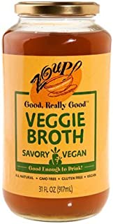 Vegetable Broth by Zoup! - Vegan, All Natural, Gluten Free, Non GMO, Low Calories Veggie Broth (1-Pack)