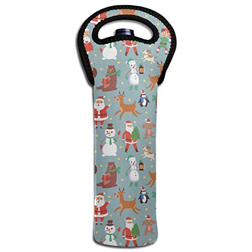 Thermoisolierende Taschen für Flaschen mit Weihnachtsmotiven, Weihnachtsmann, Schneemann, Rentier, Weinflaschen, Kühltasche, Dekoration