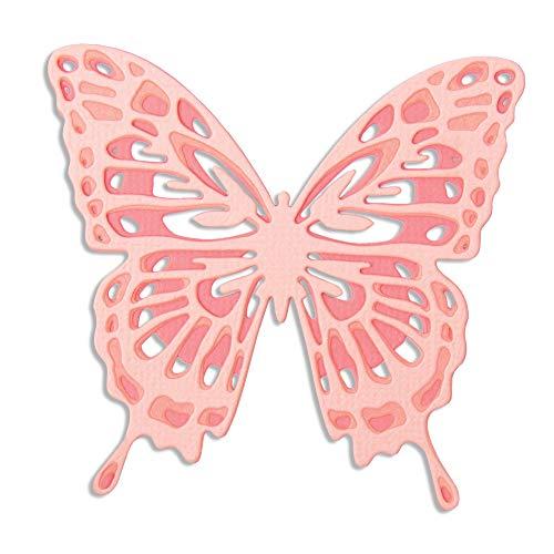 Sizzix Thinlits Stanzschablonen 3 Stk 664394 Detaillierte Flügel von Jessica Scott, Mehrfarben, Einheitsgröße