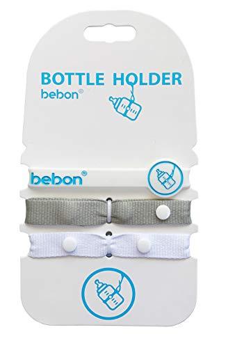 bebon® Baby Flaschen Halter – Spielzeug Bügel, Gurt für Kinderwagen, Autositz, Hochstuhl
