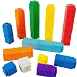RAINBOW TOYFROG Math Manipulatives Counting Cubes, Educational Number Blocks, Classroom Toys Kindergarten Learning Materials Homeschool Supplies,Set of 100 Math Cubes for Kids Ages 3+