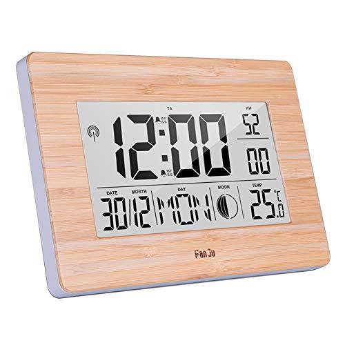 Lsgepavilion Multifunktions-Digital-Wanduhr mit Wecker, Datumsanzeige, Nachttisch, Temperatur-Tester, 1#, Einheitsgröße