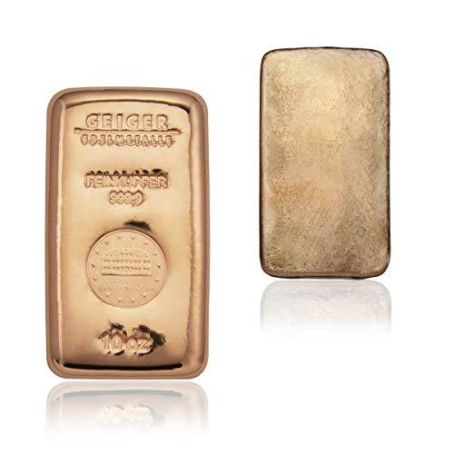 Lingote de cobre de 1 kilogramos de refinería de metales precisosos Geiger Edelmetalle (Alemania)): Amazon.es: Industria, empresas y ciencia