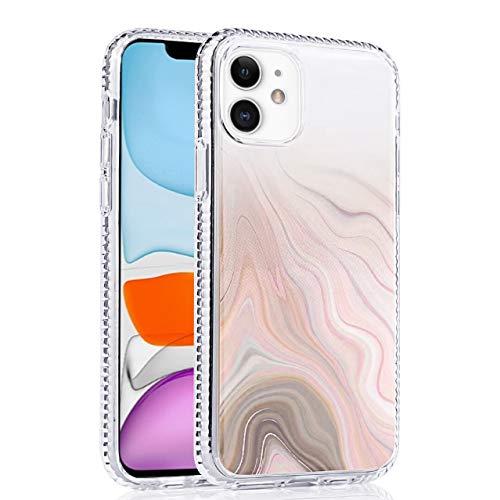Eigendom Compatibele iPhone 11 Hoes, Marmer Patroon Air Kussen Anti-Shock Edge Bumper Design, Zacht TPU Stevige krasbestendigheid voor iPhone 11-Marble Patroon, marmer