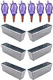 Novaliv 4 x Macetero galvanizado con 4 x Dispensador de Agua Bördy M Jardinera para balcón Jardinera para estantería de Flores, Morado