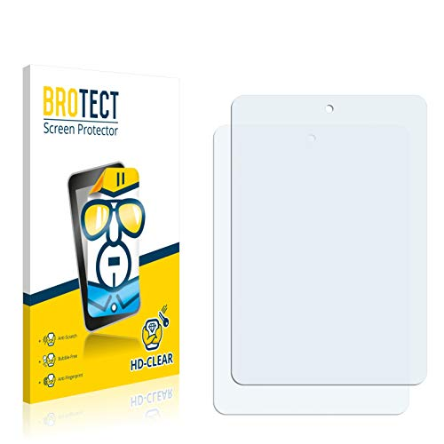 BROTECT Schutzfolie kompatibel mit Haier HaierPad Mini 781 (2 Stück) klare Bildschirmschutz-Folie