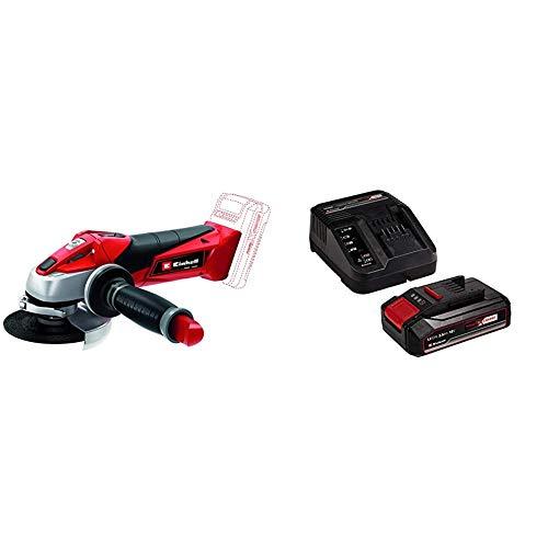 Einhell Expert TE-AG 18 Li Radial angular sin cable, sin batería (ref. 4431110) + 4512097 Kit para principiantes que incluye Batería 2,5 Ah + Cargador Power X-Change