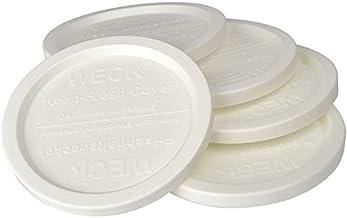 "WECK JAR 5 PACK KEEP FRESH PLASTIC LIDS, 5 PACK (SMALL = 2 3/8"", 60mm) Fits models 080, 755, 760, 761, 762, 763, 764, 766,..."