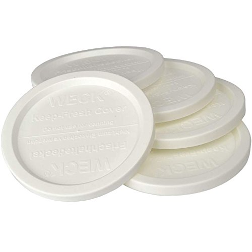 WECK JAR 5 PACK KEEP FRESH PLASTIC LIDS, 5 PACK (SMALL = 2 3/8', 60mm) Fits models 080, 755, 760, 761, 762, 763, 764, 766, 902, 905, 975, 995