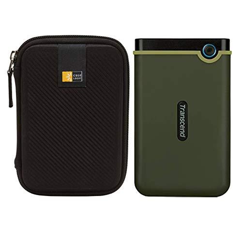 Transcend Storejet Externe Festplatte, 2 TB, USB 3.1, stoßfest, stoßfest, Militärgrün