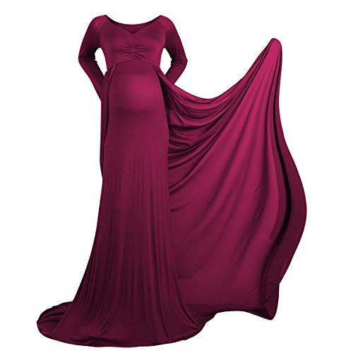 IBTOM CASTLE Schwangerschaftskleid Umstandskleid Schwanger Fotografie Requisiten Frauen Lange Chiffon Mutterschaft Fotoshooting Kleidung...