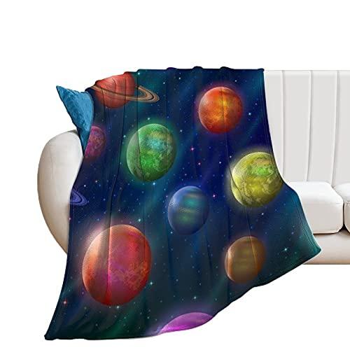Manta Bebe Planeta Planeta Manta De Franela Suave Y Confortable para Dormir Cuna/Cochecito/Cesta De Moisés/Viaje 130×150cm