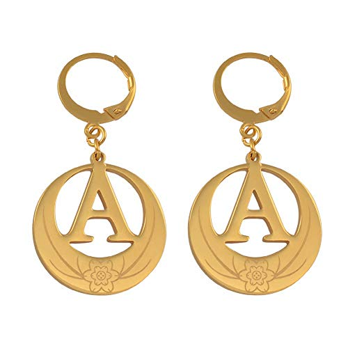 Letters Earrings Initial For Women Girls Kiribati Alphabet Earring Gold Color English Letter Jewelry Gifts