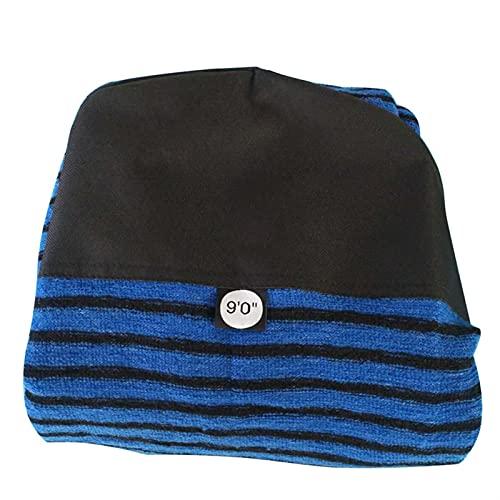 GUANGHEYUAN-J Correa de Tabla de Surf Bolsa de Tabla de Surf de 9 pies Calcetines de Pescado con Calcetines de Surf Cubierta Protectora para Longboard Cortada (Size : Black+Blue)